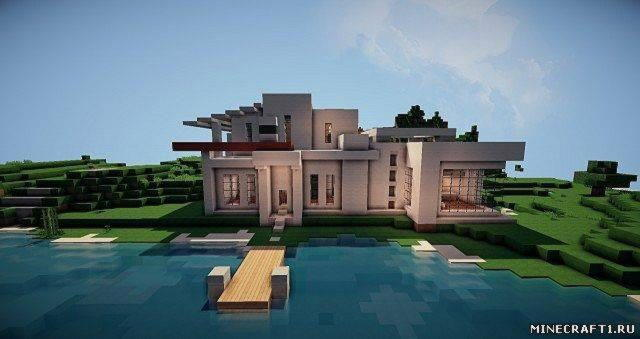 Карта Modern House + Cinematic для Minecraft 1.6.2