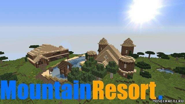 Карта для minecraft  Mountain Resort