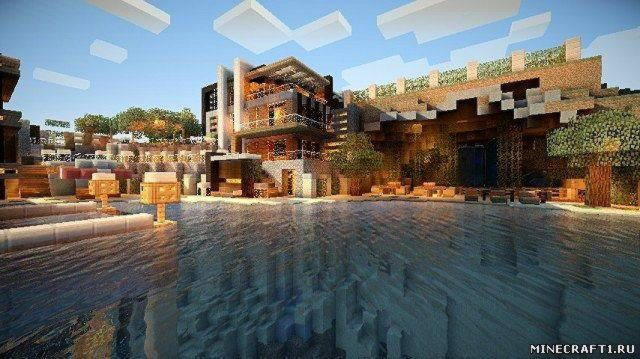 Карта для minecraft Really Really Cool House