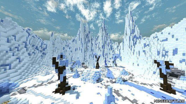 "Карта ""Ice/snow Pvp Arena"" для minecraft"