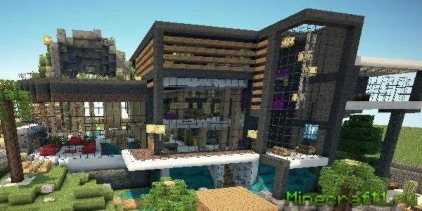 Карта Luxurious Modern House 2 для Minecraft 1.7.10
