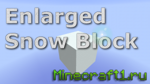 Скачать карту ENLARGED SNOW BLOCK для minecraft