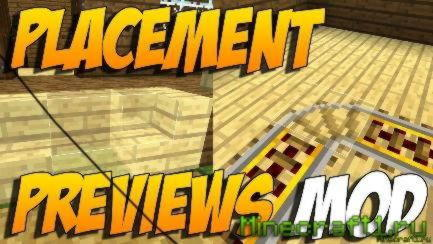 Мод Placement Preview для Minecraft